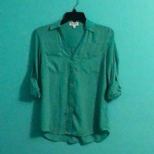 Express green portifino shirt